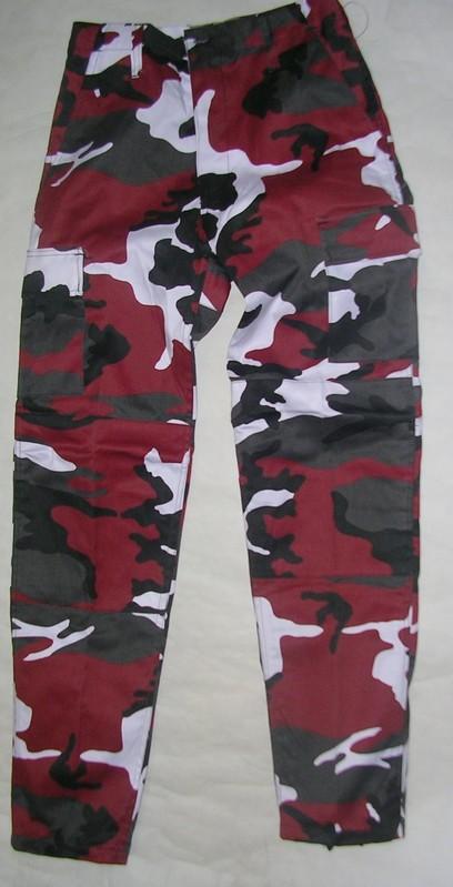 Pantalon de treillis bdu us army urban rouge stock - Treillis militaire occasion ...